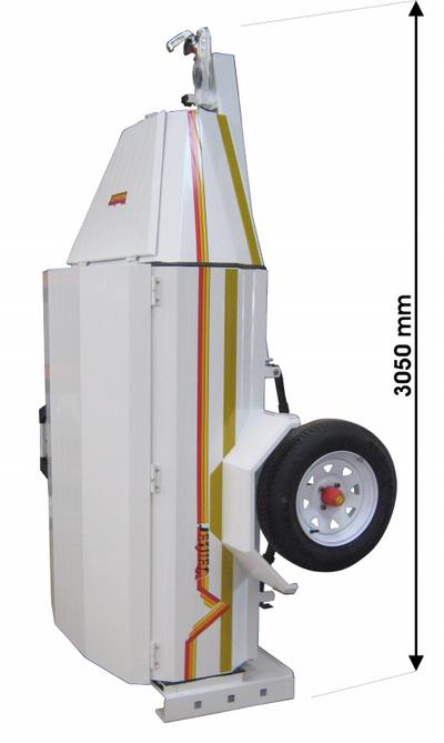 Luggage trailer height