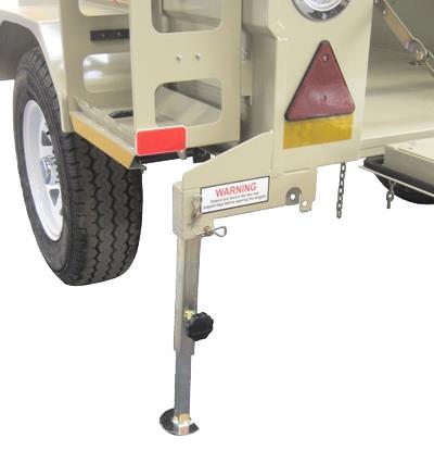 Rear adjustable support leg