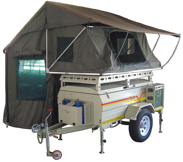 Savuti trailer with tent