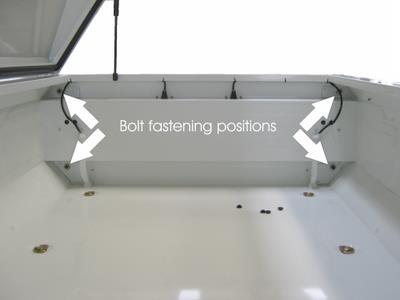 Vertical storage stand (fastenings)